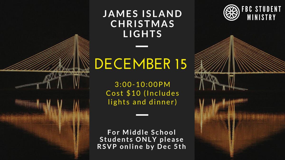 James Island Christmas Lights